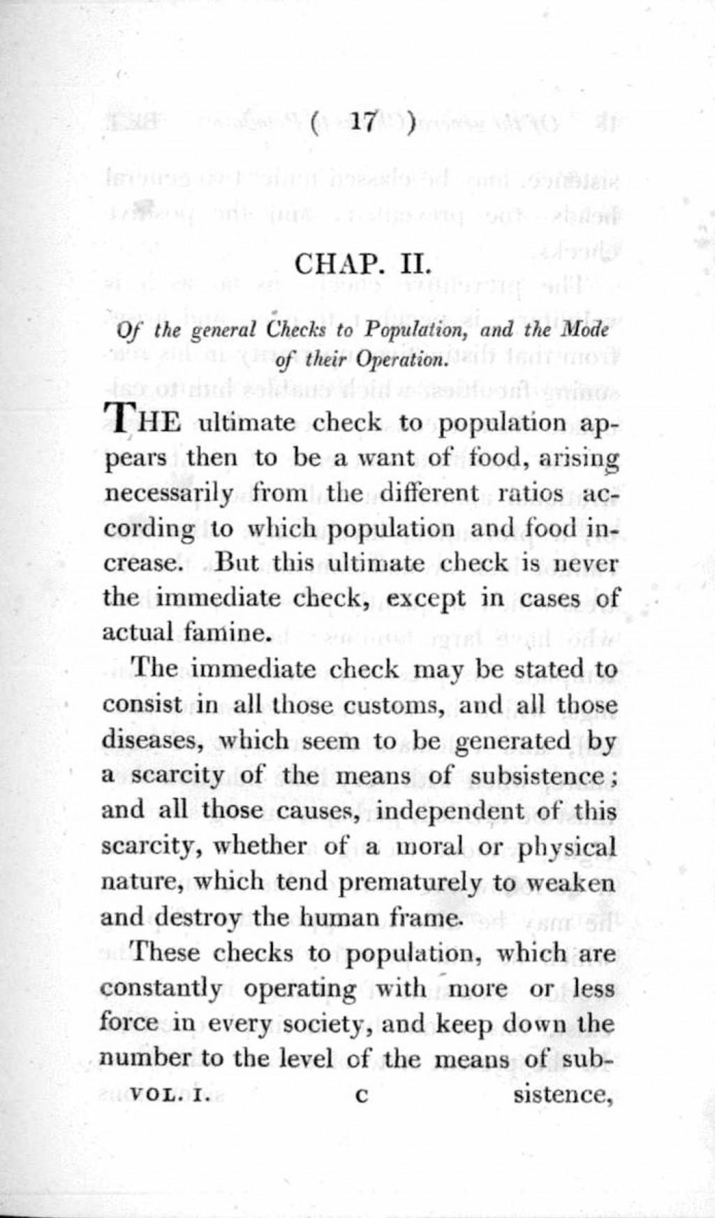 012 Essay Example On The Principle Of Singular Population Pdf By Thomas Malthus Main Idea Large