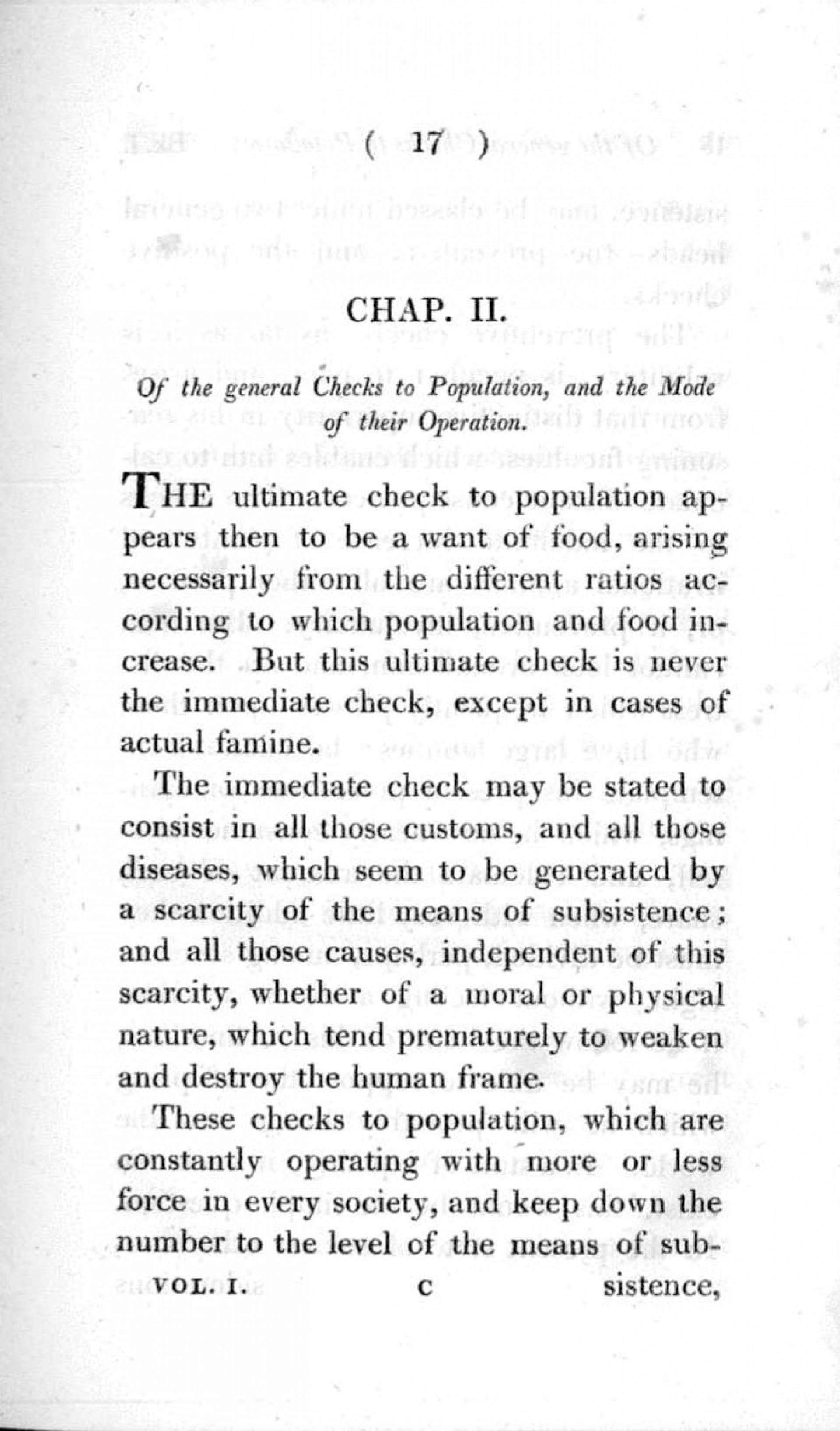 012 Essay Example On The Principle Of Singular Population Pdf By Thomas Malthus Main Idea 1920