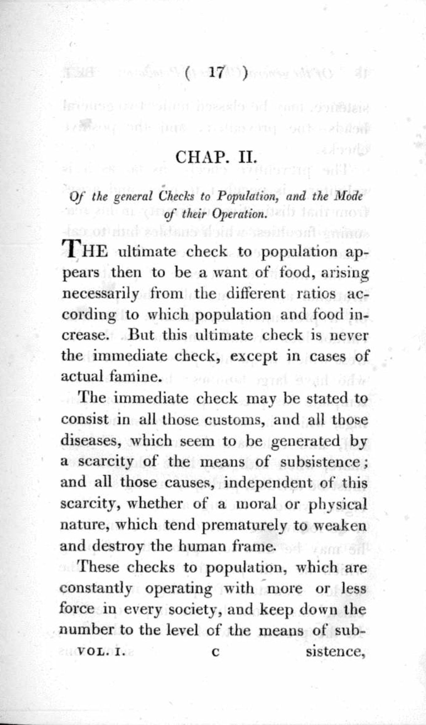 012 Essay Example On The Principle Of Singular Population Pdf By Thomas Malthus Main Idea Full