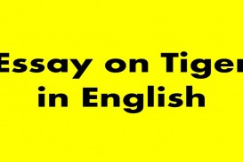 012 Essay Example On Tiger Astounding Shroff Hindi For Class 1 National Animal In