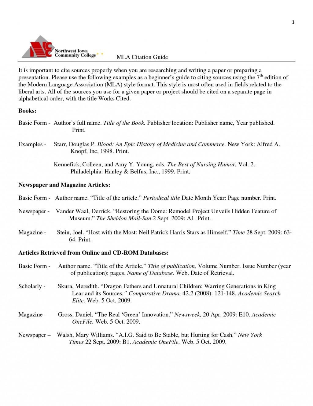 012 Essay Example Proper Form Citation Mla Format Citations Formidable Paper Reflection Large