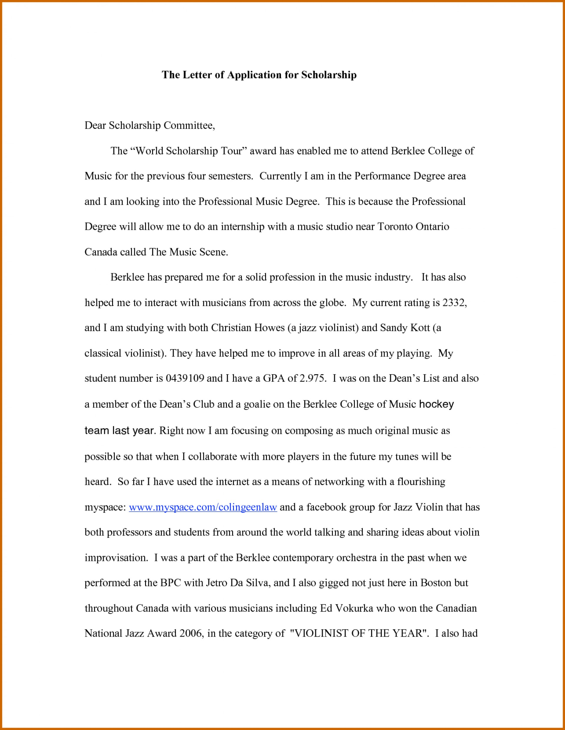 012 Essay Example Scholarship Examples Financial Need How To Write Application For Impressive Pdf 1920