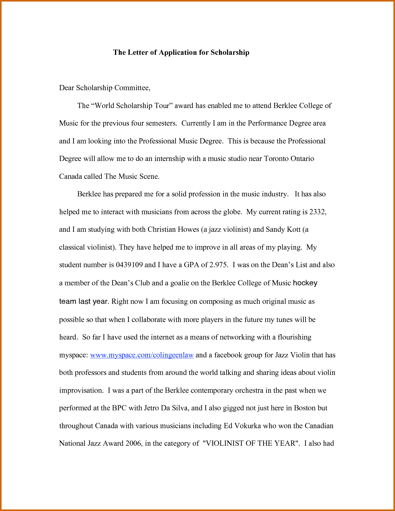 012 Essay Example Scholarship Examples Financial Need How To Write Application For Impressive Pdf Full