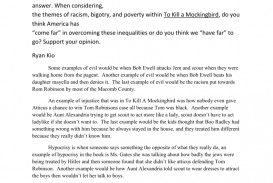 012 Essay Example To Kill Mockingbird Questions 008014043 1 Phenomenal A Part Discussion Test One