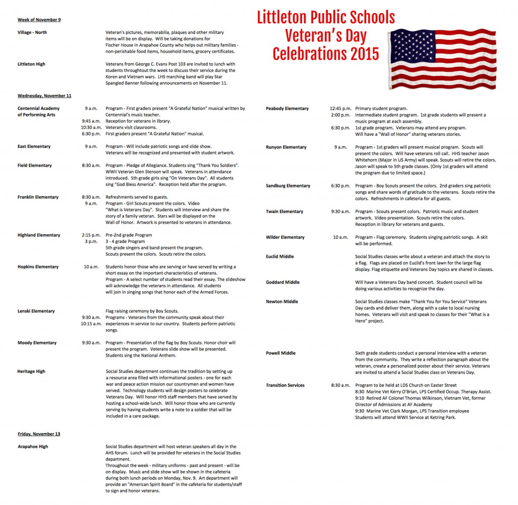 012 Essay Example Veterans Lps Honors Littleton Public Schools Veteran Day Exa Best Contest Ideas Titles Large