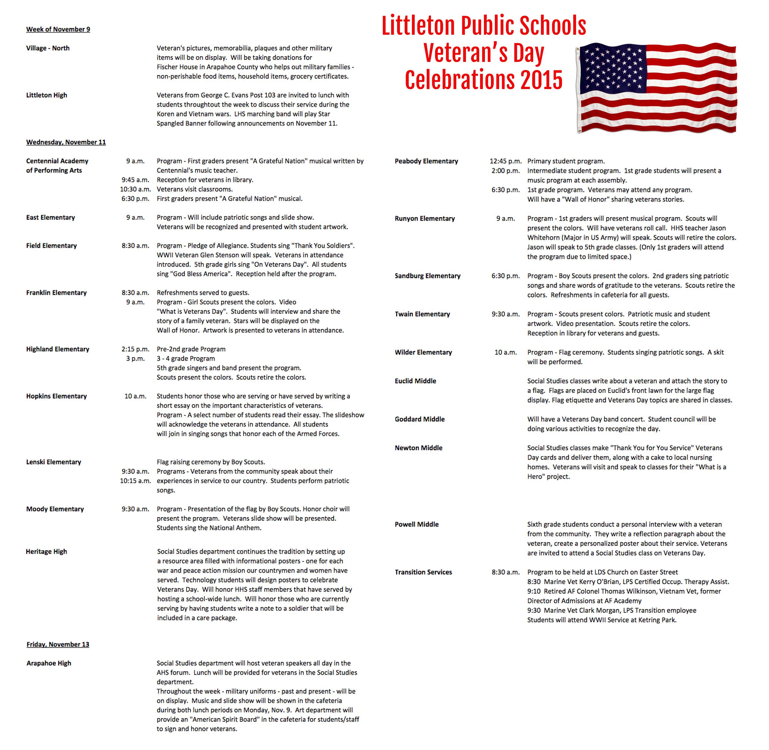 012 Essay Example Veterans Lps Honors Littleton Public Schools Veteran Day Exa Best Writing Prompts Elementary Contest Ideas Full