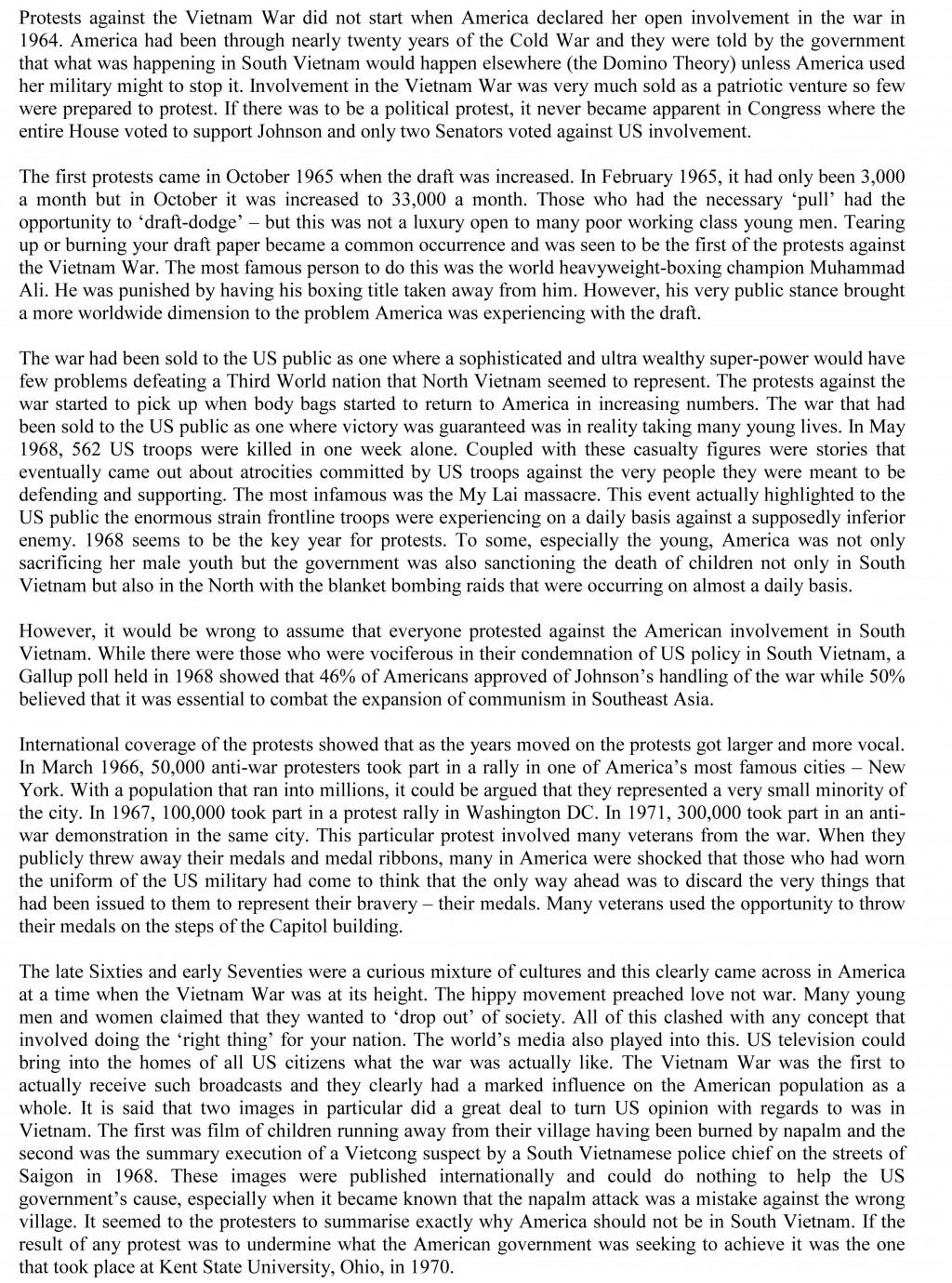 012 Essay Example Vietnam War Narrative Vs Wondrous Descriptive Studymode And Writing Igcse Ppt Large