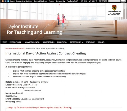 012 Essay Mills And Detection Services International Day Of Action Against Contract Cheating Sensational 480