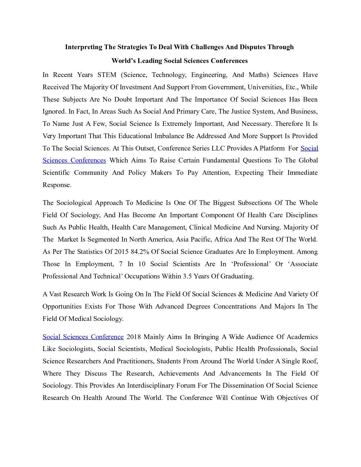 012 Essay On Importance Of Social Science P1 Rare Full