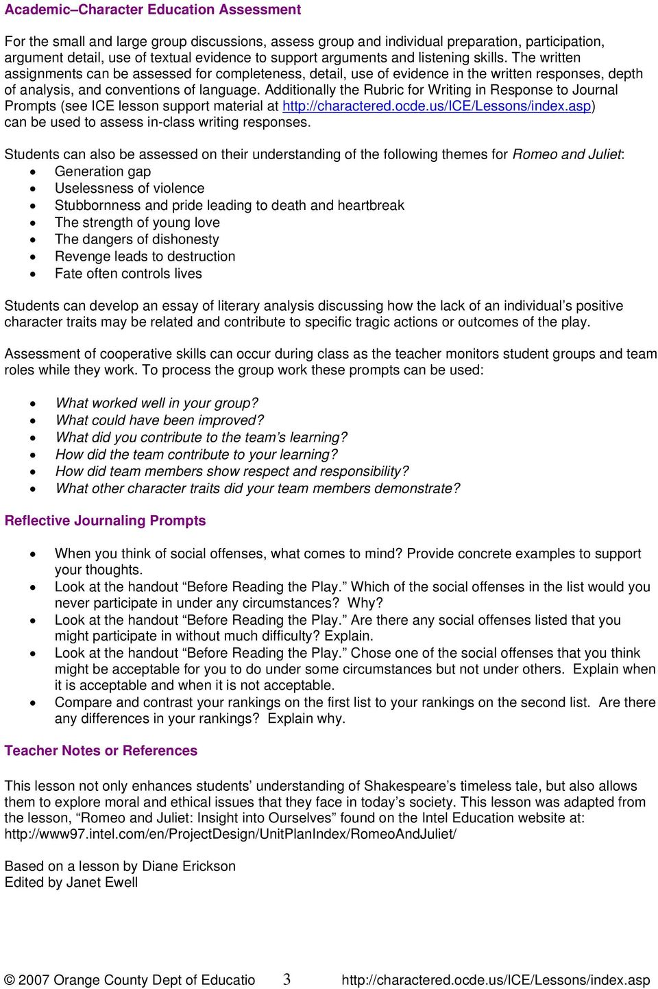012 Essay Topics Romeo And Juliet Exploring Timeless P Writing Prompts Fantastic Prompt Who Is To Blame Questions Full
