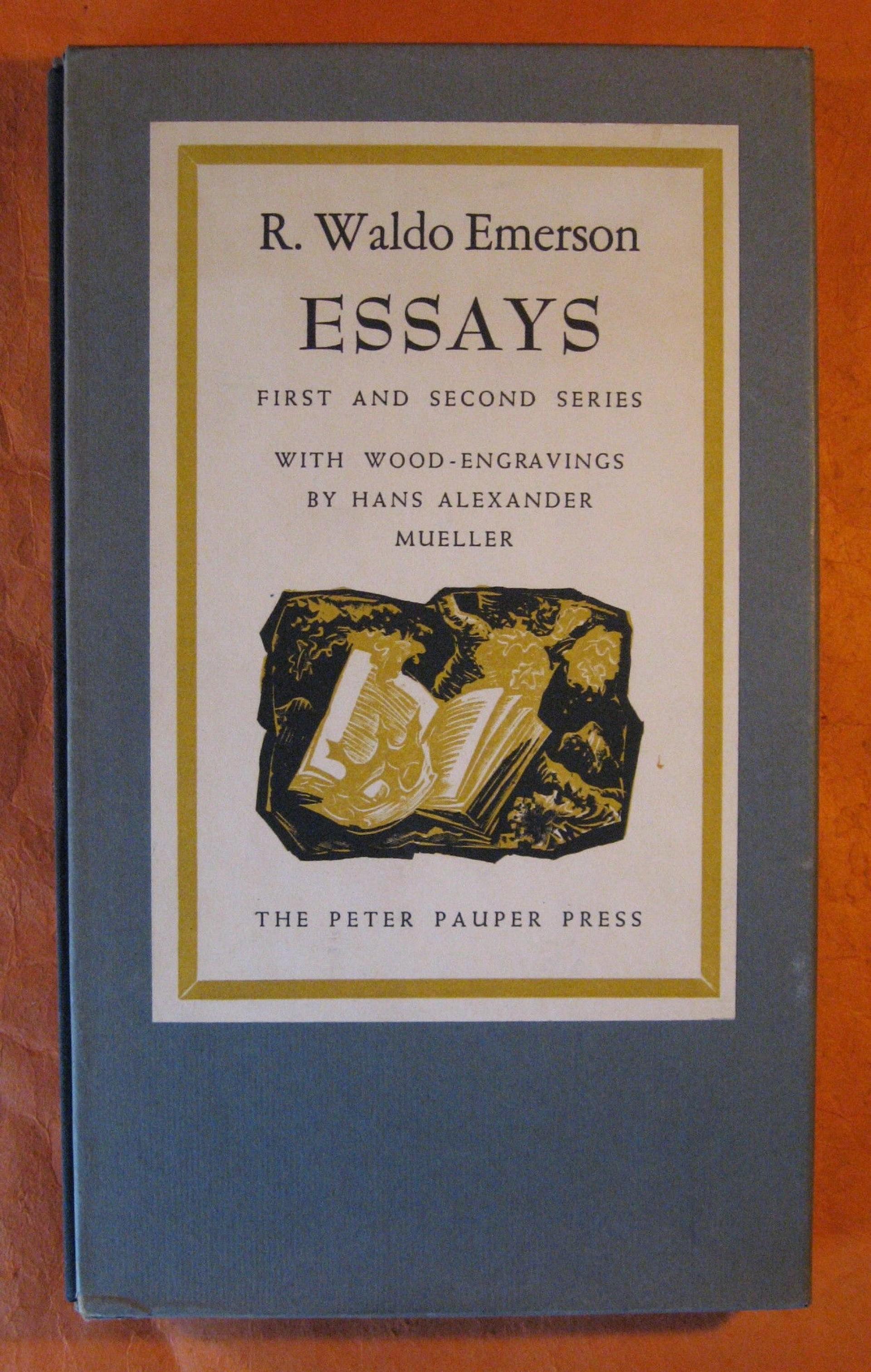 012 Essays First Series X Essay Stunning Emerson Pdf Shelburne Publisher 1920