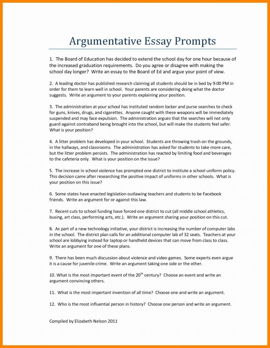 012 Good Persuasive Essay Topics For Middlel As Well Argumentative Hooks Examples Printables Corner College Thesis Conclusion Introduction Pdf 1048x1350 Unique Middle School Easy With Articles Funny Large
