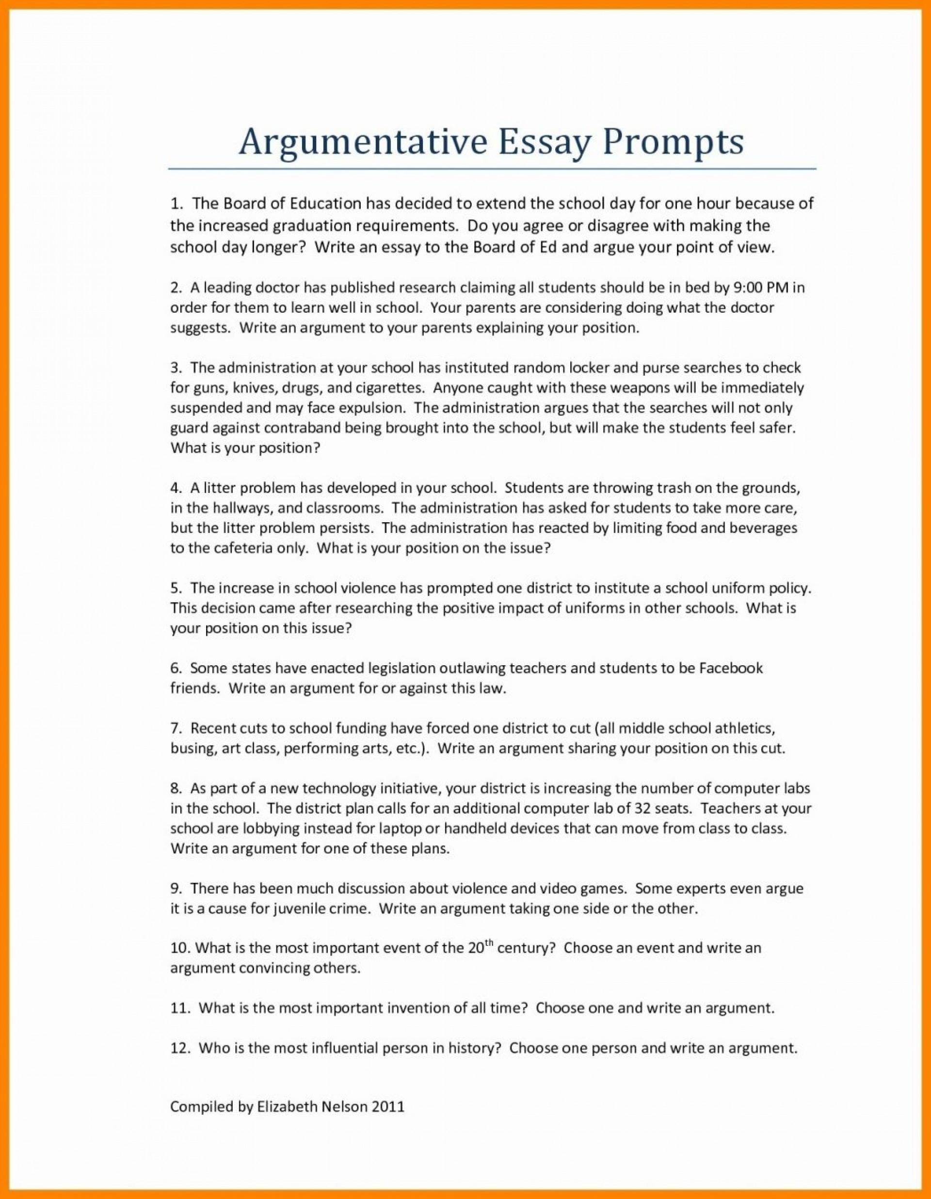 012 Good Persuasive Essay Topics For Middlel As Well Argumentative Hooks Examples Printables Corner College Thesis Conclusion Introduction Pdf 1048x1350 Unique Middle School Easy With Articles Funny 1920