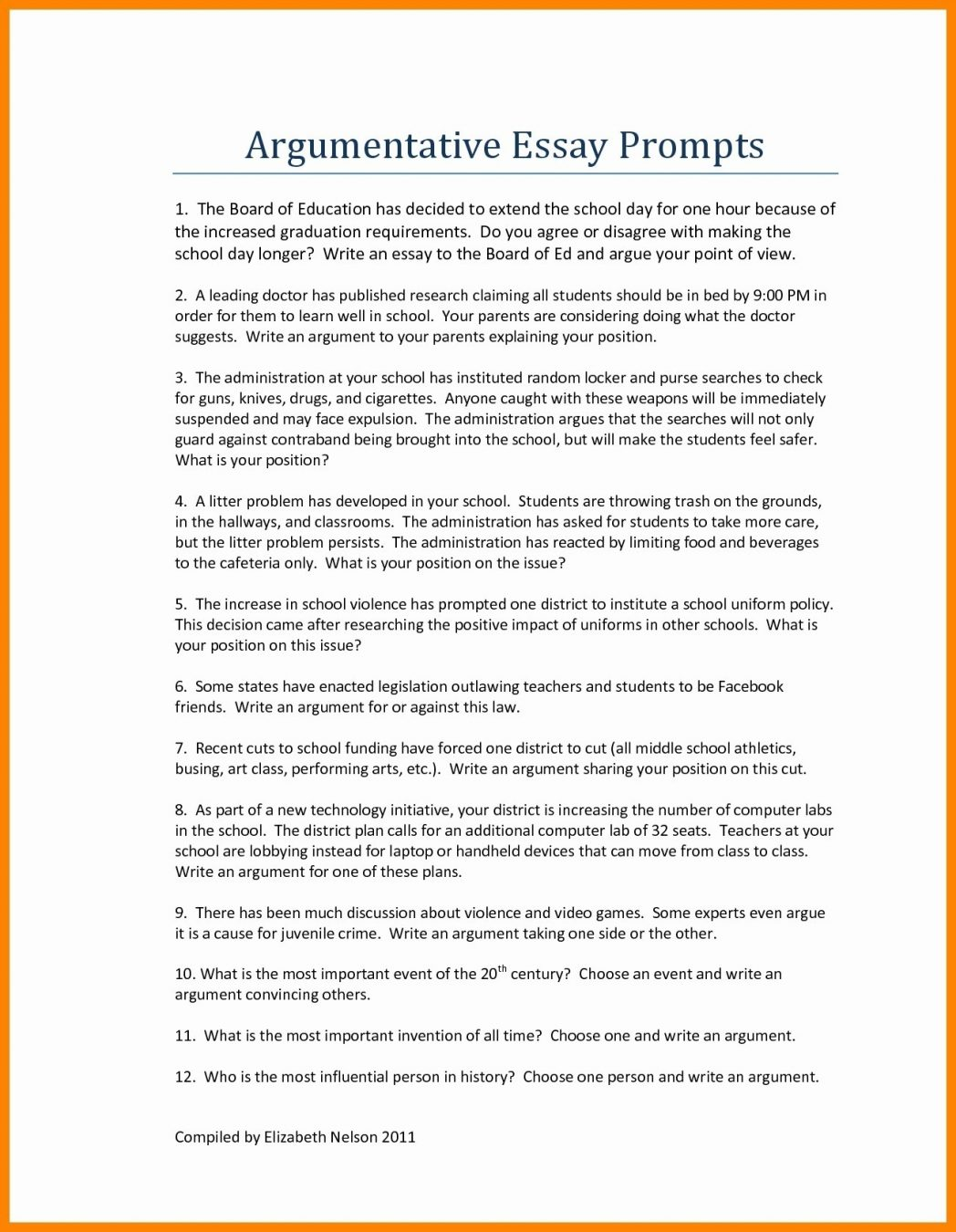 012 Good Persuasive Essay Topics For Middlel As Well Argumentative Hooks Examples Printables Corner College Thesis Conclusion Introduction Pdf 1048x1350 Unique Middle School Easy With Articles Funny Full