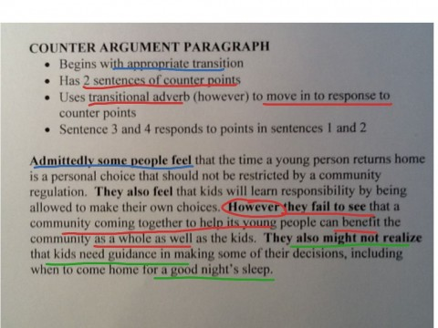 012 How To Write Counterclaim In An Argumentative Essay Unusual A Rebuttal Make 480