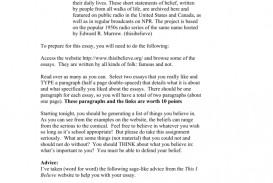 012 I Believe Essay 008807220 1 Impressive This Examples College Rubric Format