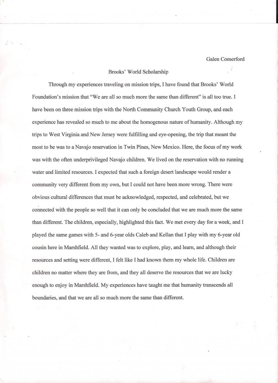 012 Image4 Career Goals Essays Imposing Essay Examples Scholarship Pdf Educational Large