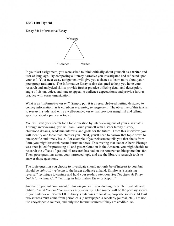 012 Informative Essay Dreaded Ideas Rubric 6th Grade 728