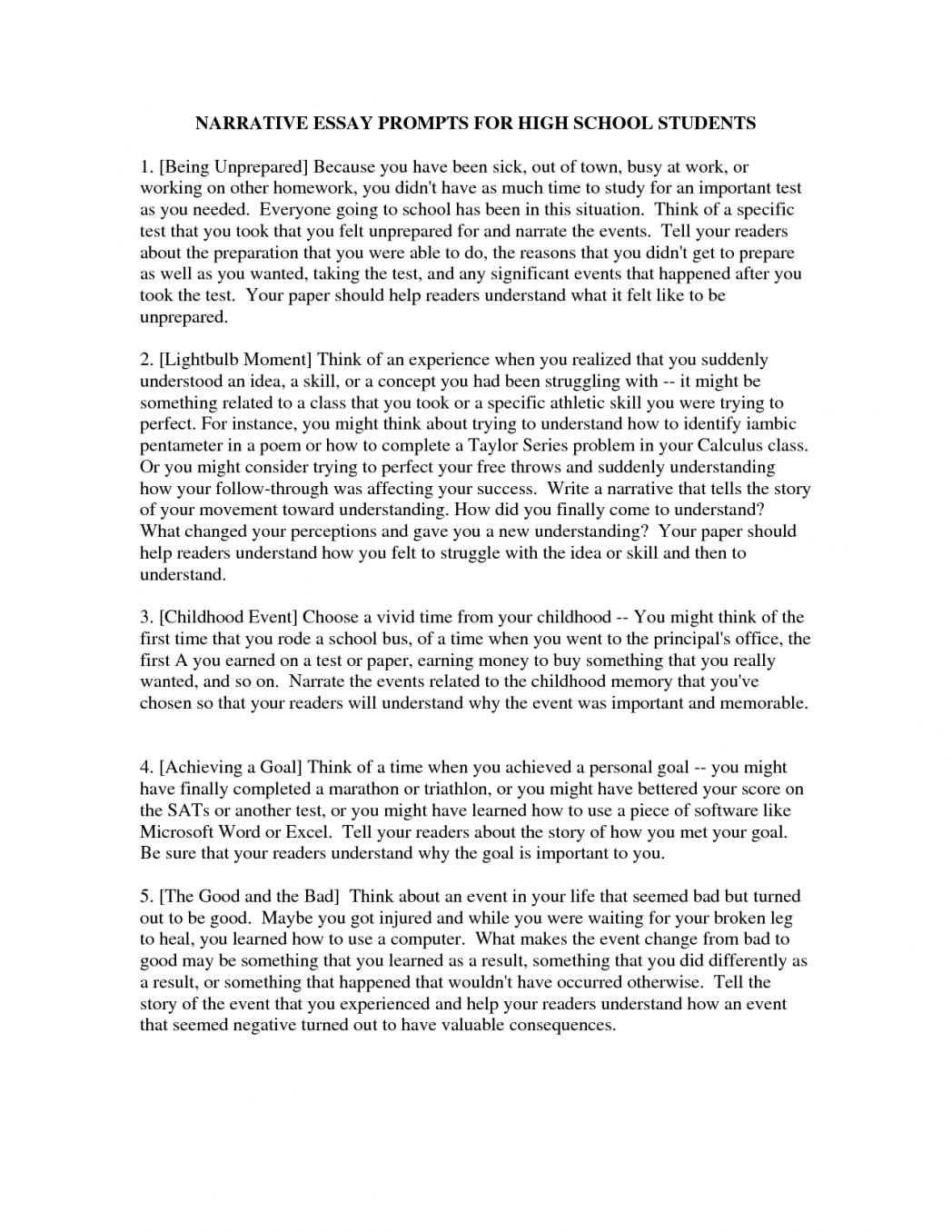 012 Informative Essay Examples For High School Example Narrative Goal Blockety Co Short Topics Students Essays Per Pdf Personal Marvelous Full