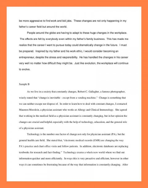 012 Interview Essay Example Examples Of Student Reflections Shocking Paper Format Apa Mla 480