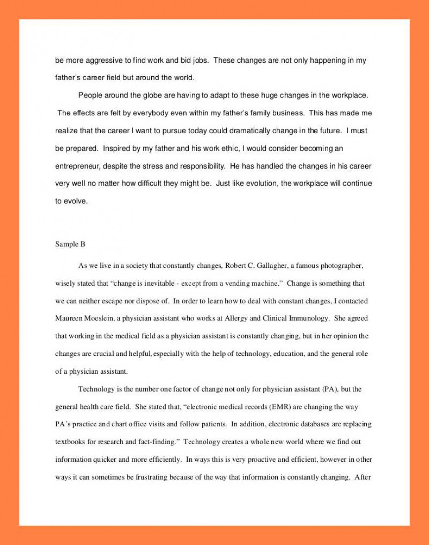 012 Interview Essay Example Examples Of Student Reflections Shocking Paper Format Apa Mla 868