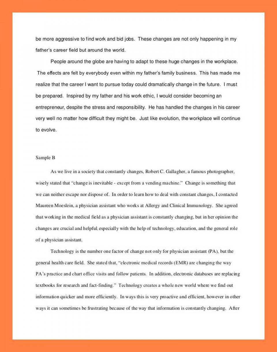 012 Interview Essay Example Examples Of Student Reflections Shocking Paper Format Apa Mla 960