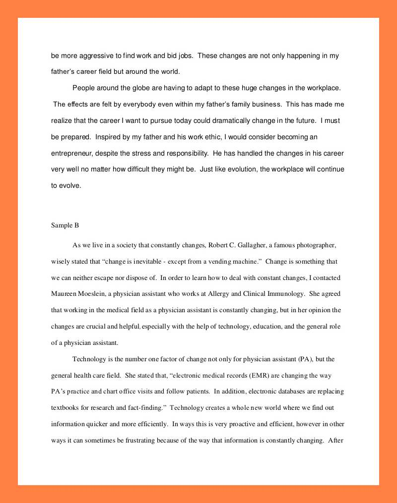 012 Interview Essay Example Examples Of Student Reflections Shocking Paper Format Apa Mla Full