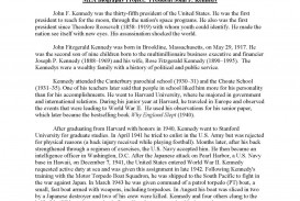 012 Jfkmlashortformbiographyreportexample Page 1 Essay Example Unique Autobiography Of About Yourself Tagalog Bio For Students