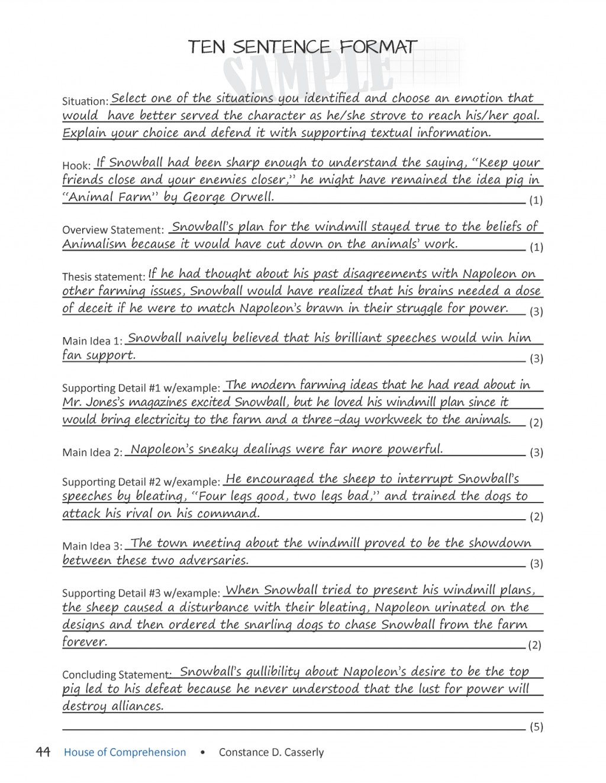 012 Languageartscomprehensionchecktensentenceformat25252b252525252812525252529 Page 5 Causal Argument Essay Topics Imposing Topic Ideas Large