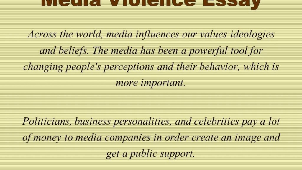 012 Media Violence Essay Example Imposing Television Outline Thesis Statement Large