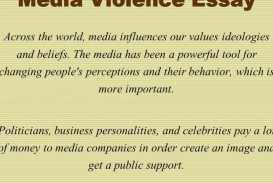 012 Media Violence Essay Example Imposing Television Outline Thesis Statement 320