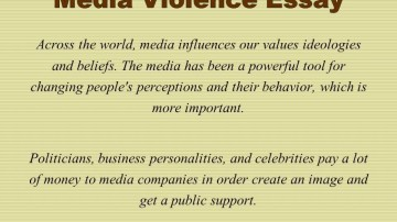 012 Media Violence Essay Example Imposing Television Outline Thesis Statement 360