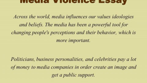 012 Media Violence Essay Example Imposing Television Outline Thesis Statement 480