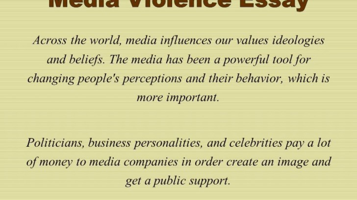 012 Media Violence Essay Example Imposing Television Outline Thesis Statement 728