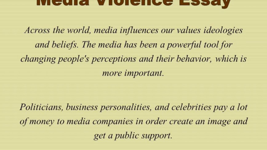 012 Media Violence Essay Example Imposing Television Outline Thesis Statement 868