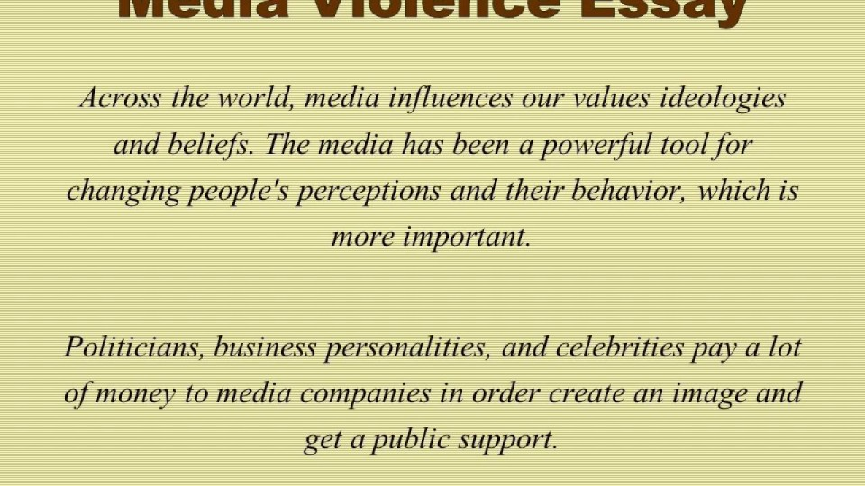 012 Media Violence Essay Example Imposing Television Outline Thesis Statement 960