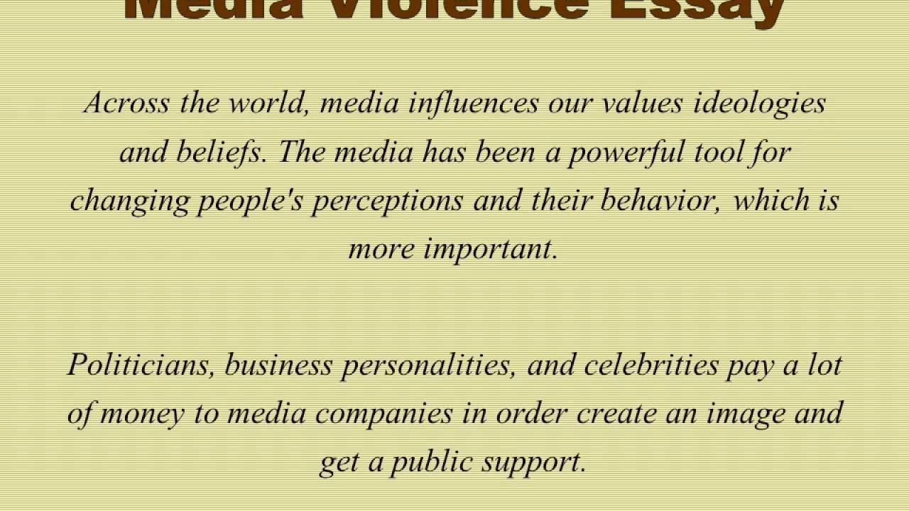 012 Media Violence Essay Example Imposing Television Outline Thesis Statement Full