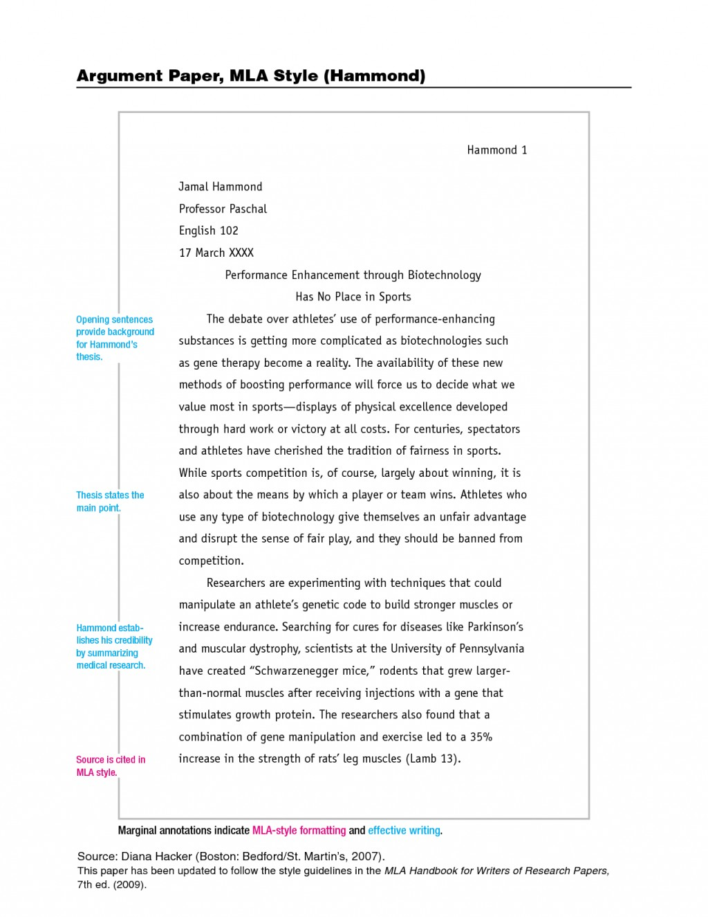 Narrative style paper