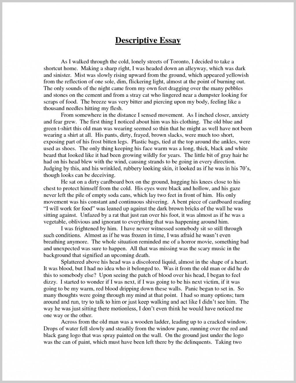 012 Narrative Descriptive Essay Introduction Of Essays Impressive Pdf About Earthquake Outline Large