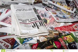 012 Newspaper Recycling Pile Newpaper Newsprint Magazines Collected To Recycle Essay Example That Publish Personal Unforgettable Essays India Uk