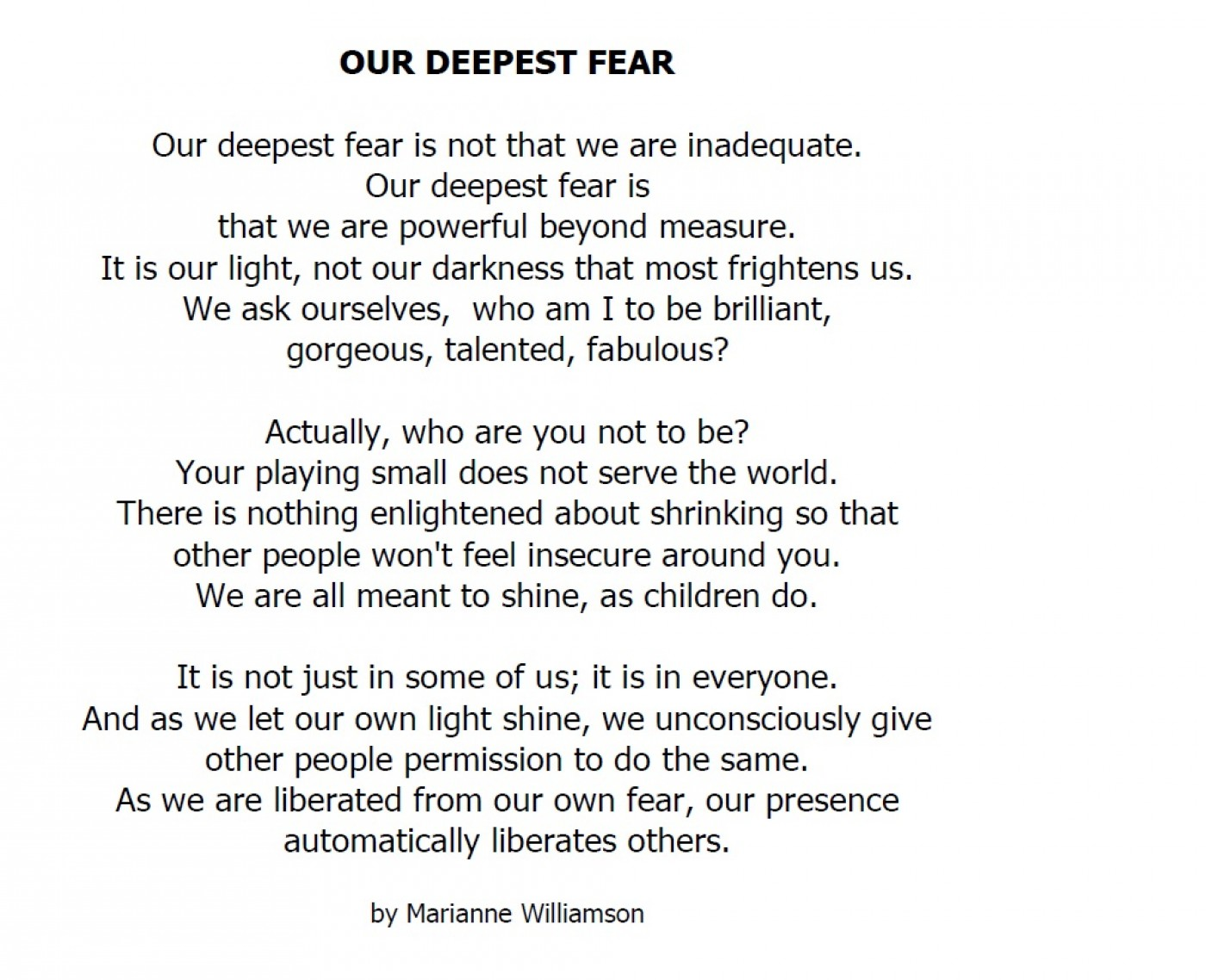 012 Our Greatest Fear Essay On Stupendous Of Darkness My Failure Ways To Overcome Public Speaking 1400