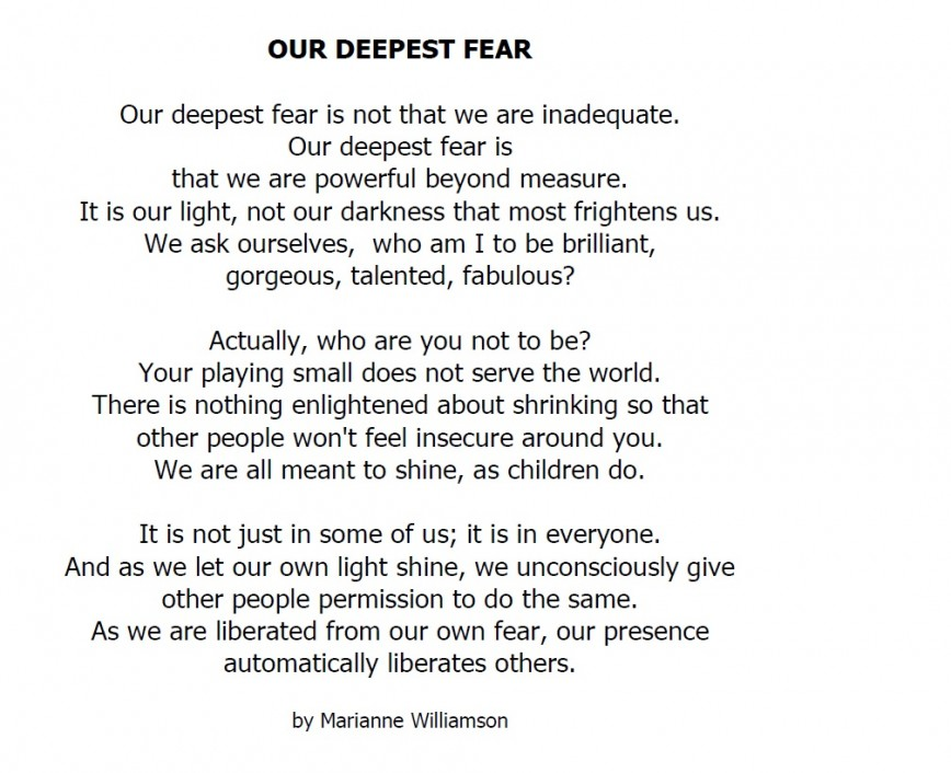 012 Our Greatest Fear Essay On Stupendous Of Darkness My Failure Ways To Overcome Public Speaking 868
