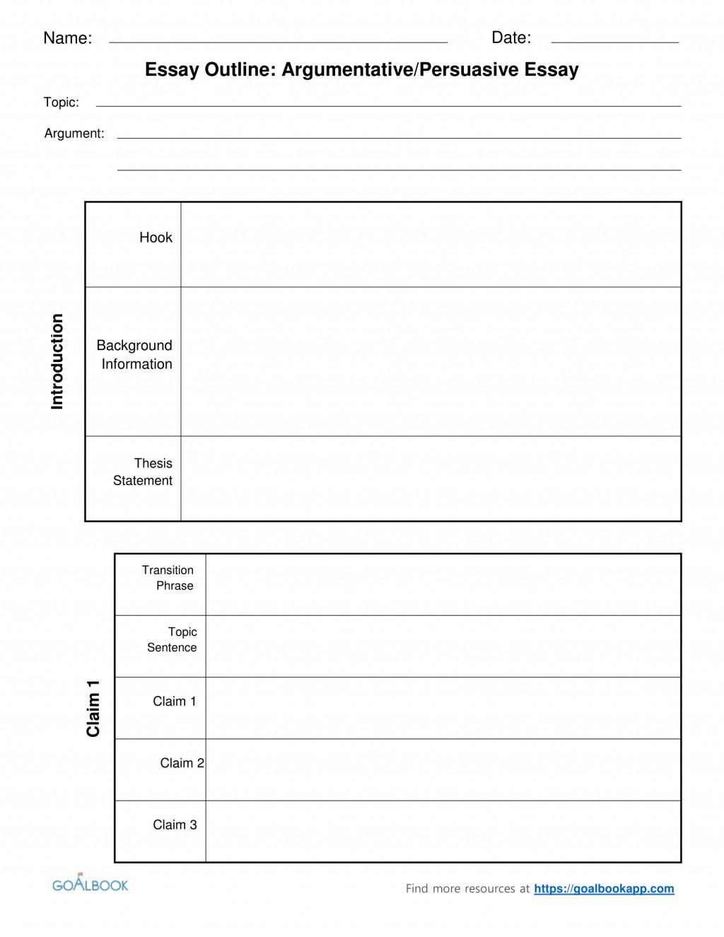 012 Outline Of An Essay 2argumentative Persuasiveessayoutlinechunked Sensational Argumentative Sample Co Education Pdf Large