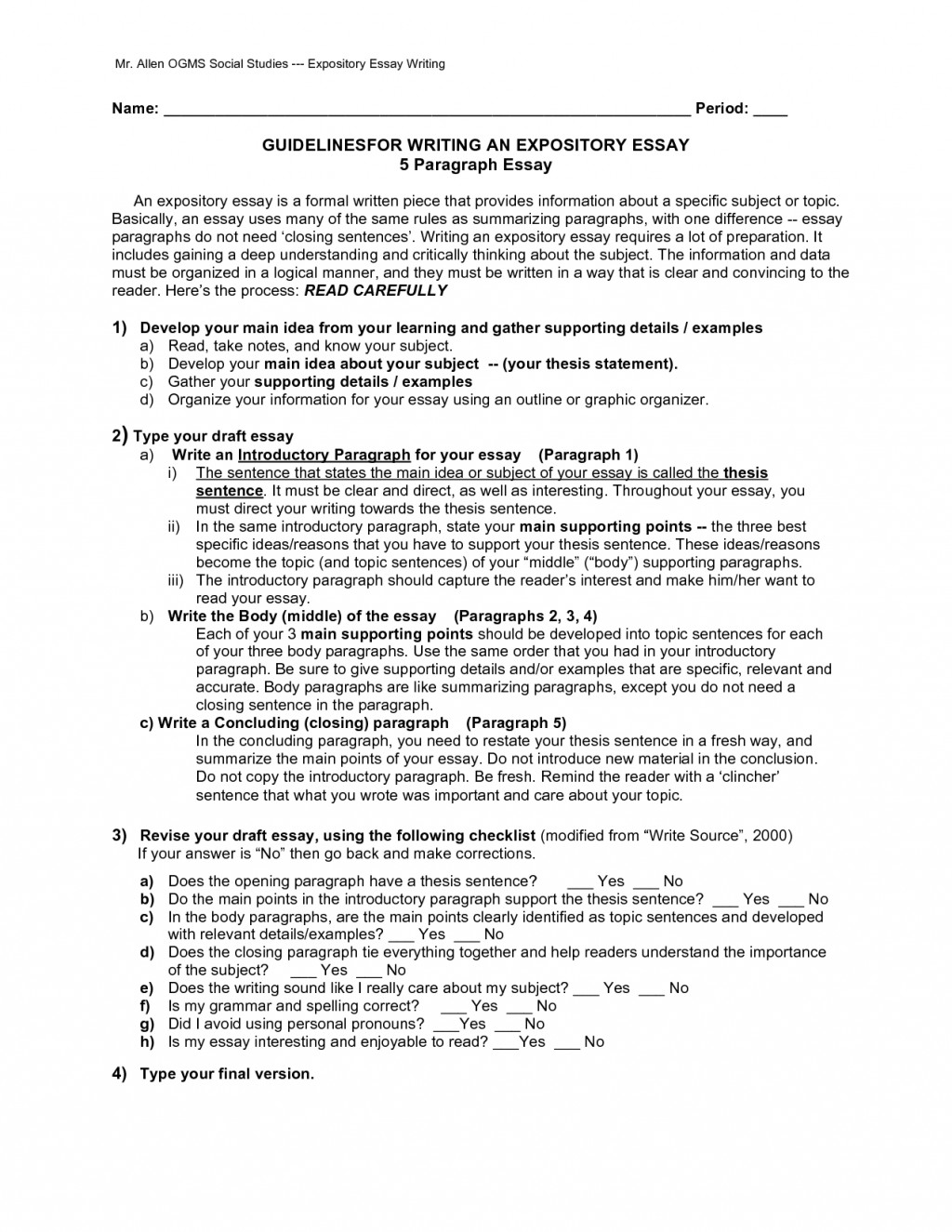 012 Paragraph Expository Essay Example 569202 Stupendous Sample 5 Camping Pdf For 4th Grade Large