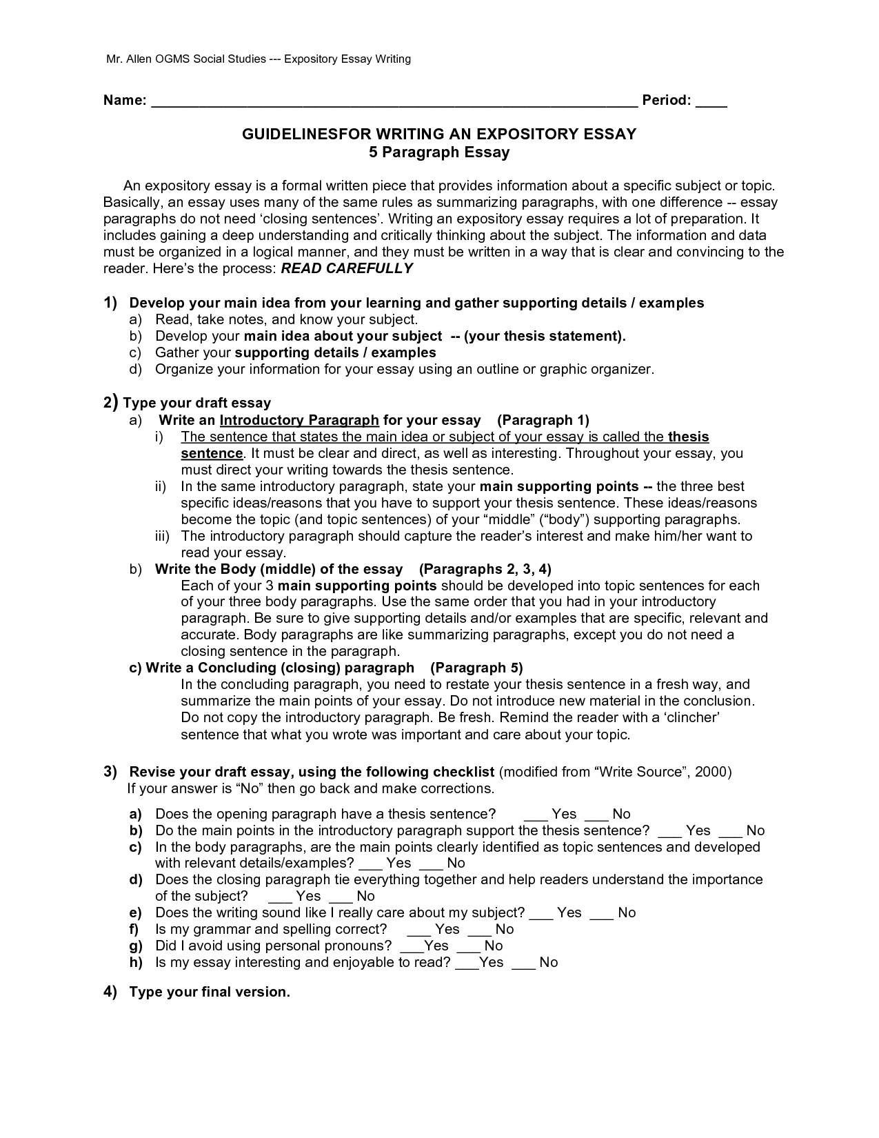 012 Paragraph Expository Essay Example 569202 Stupendous Sample 5 Camping Pdf For 4th Grade Full