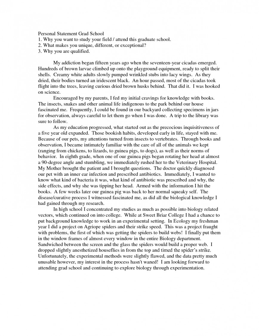 012 Personal Statement For Grad School Src0p5f3 Essay Example Graduate Surprising Admission Nursing 868
