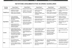 012 Persuasive Essay Rubric Keystone20argumentative20rubric Stunning Argumentative Grade 10 8th Doc Middle School Pdf