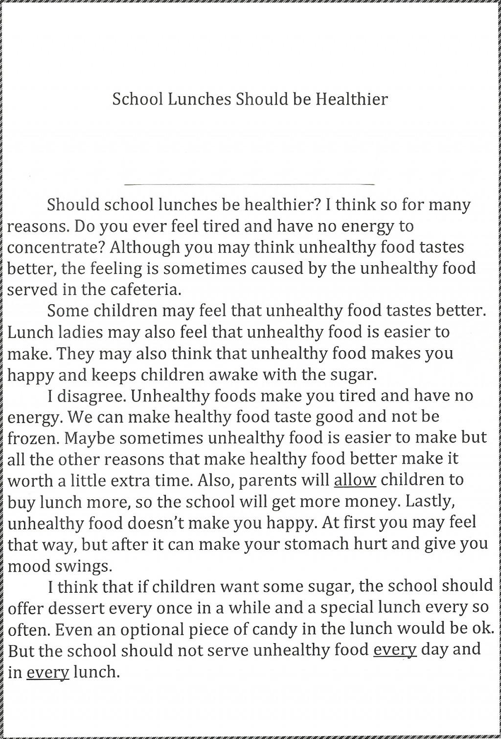 012 Persuasive Essayss Thoughtsonschoollunches Essay Stupendous Essays Examples For 5th Grade 11 High School Pdf Large