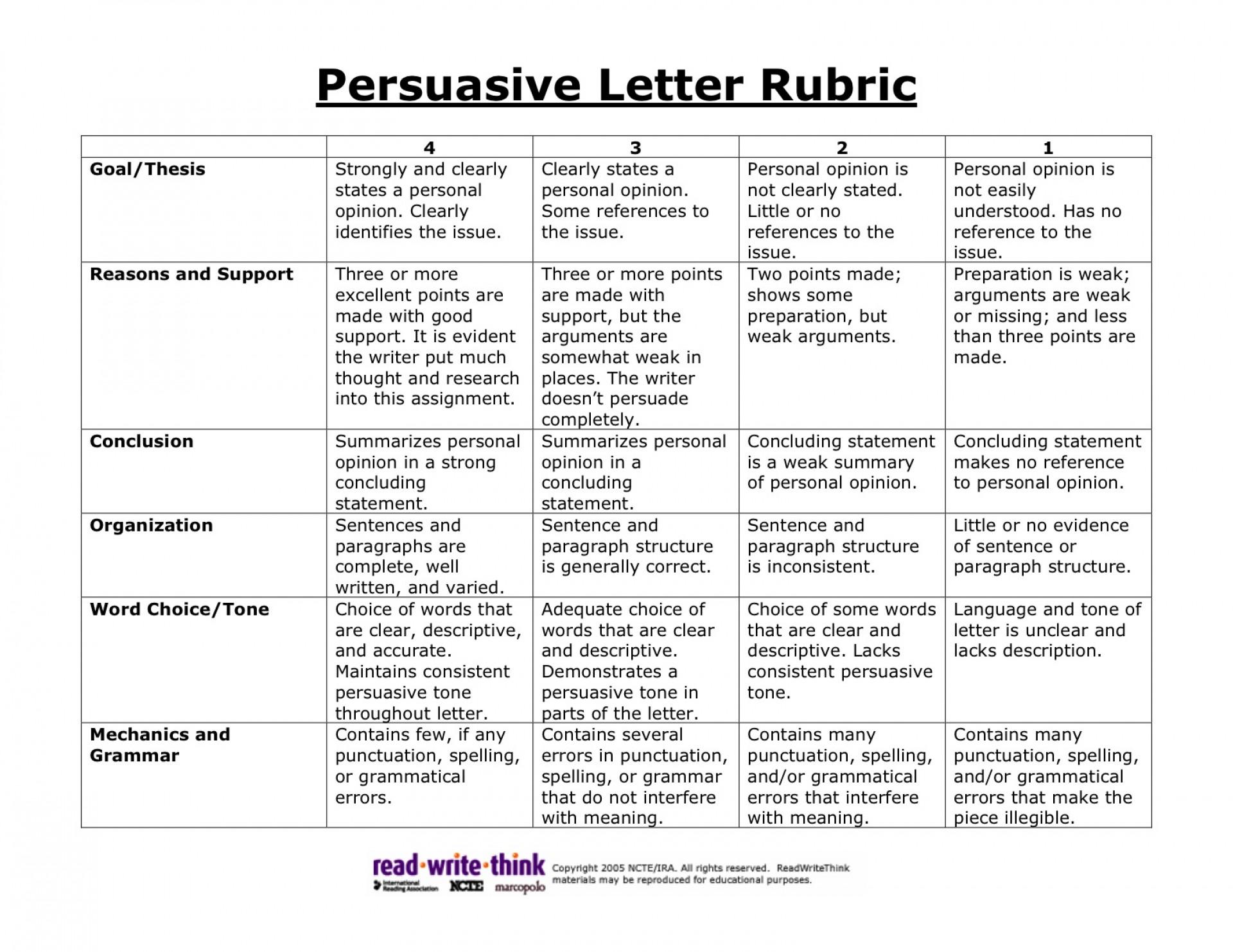 012 Persuasive2brubric Essay Example 6th Grade Surprising Topics Reflective Narrative Writing Prompts Science 1920