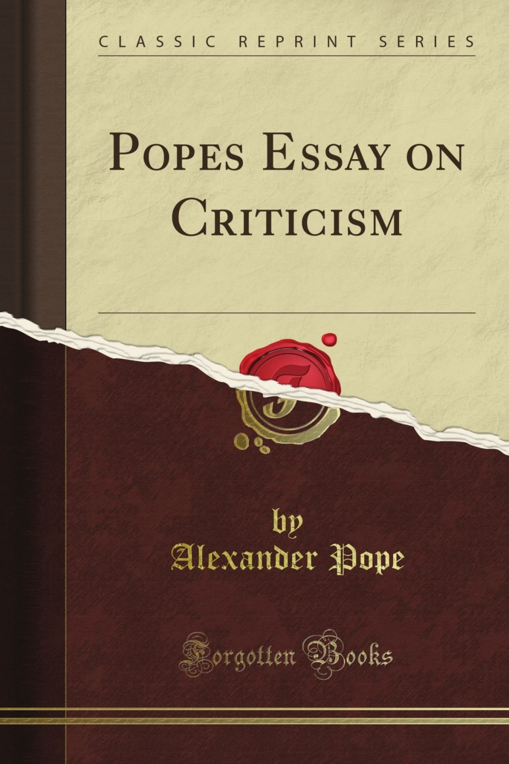 012 Pope Essay On Criticism Example Unique Part 2 Pope's Was Written In Large